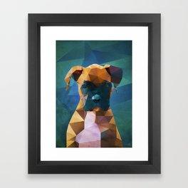 The Boxer - Dog Portrait Framed Art Print
