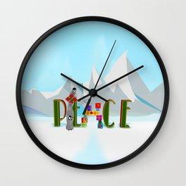 Penquin Chicks: Adding Last Piece to Peace Wall Clock