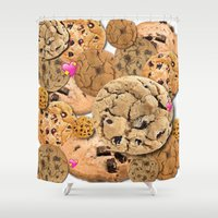 cookies Shower Curtains featuring Cookies by jajoão