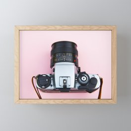 Vintage analog 35mm film camera Framed Mini Art Print