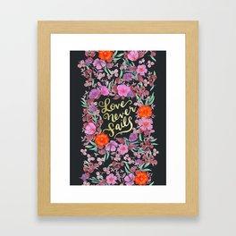 Love Never Fails -  1 Corinthians 13:8 Framed Art Print