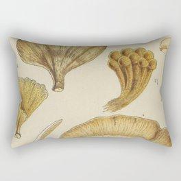 Naturalist Mushrooms Rectangular Pillow