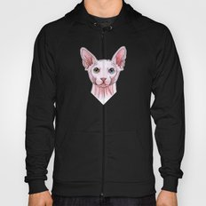 Sphynx cat portrait Hoody