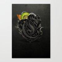 kiwi Canvas Prints featuring Kiwi by Constantine Vintage Poster Design