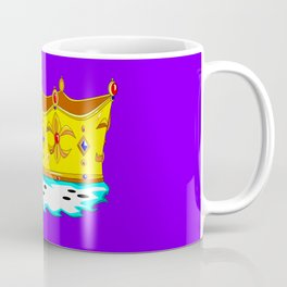 A Gold Crown with Ermine Fur Coffee Mug