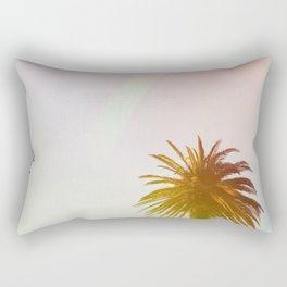 Neon Lights Palm Trees (Color) Rectangular Pillow