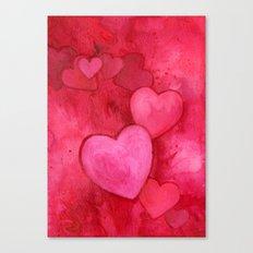 Valentine's Hearts Canvas Print
