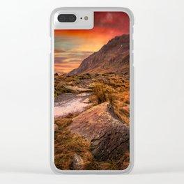 Tryfan Mountain Sunrise Clear iPhone Case
