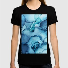 The Blue Abyss - Alcohol Ink Painting T-shirt