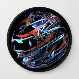 Red & Blue Ball Wall Clock
