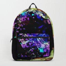 Wild Neon Apple Tree Watercolor by CheyAnne Sexton Backpack
