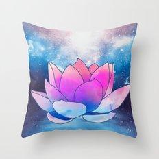 magic lotus flower Throw Pillow