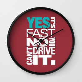 Yes it's fast No you can't drive it v2 HQvector Wall Clock