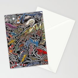 Prawns, gambas and shrimps for ocean lovers, marine biologists and scuba divers Stationery Cards