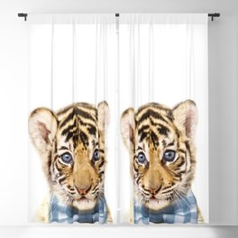 Baby Tiger With Bow Tie, Baby Animals Art Print By Synplus Blackout Curtain