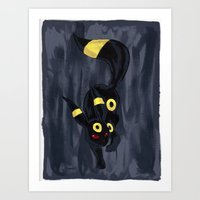 umbreon Art Prints featuring Blacky (Umbreon)  by Megan