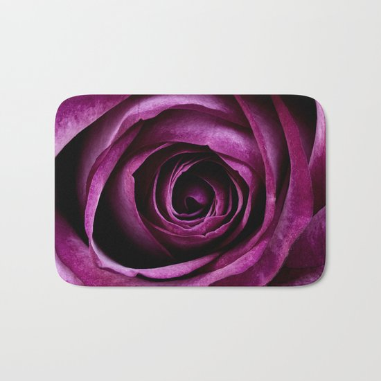 Purple Rose Bath Mat
