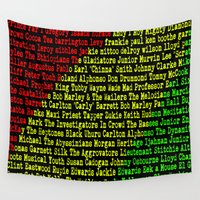 reggae Wall Tapestries featuring Reggae Artist - Roll Call by The Peanut Line