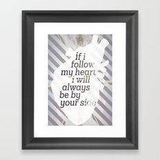 Following Heart Framed Art Print
