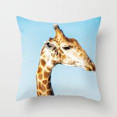 Portrait of a Giraffe Throw Pillow