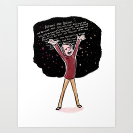 Carl Sagan Art Print