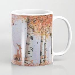 Autumn Birch Fox Coffee Mug