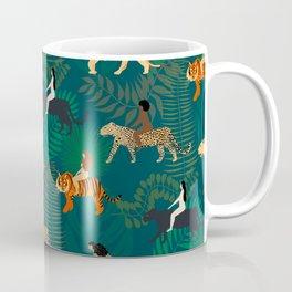 Women Riding Big Cats Coffee Mug