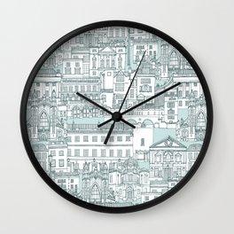 Bath toile pine mint Wall Clock
