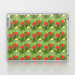 Green and Red Flowering Cactus Pattern Laptop & iPad Skin