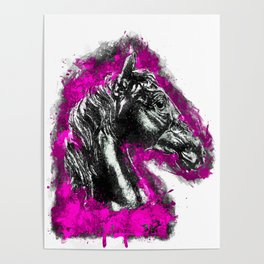 The Pink Horse by Brian Vegas Poster