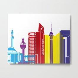 Jeddah skyline pop Metal Print