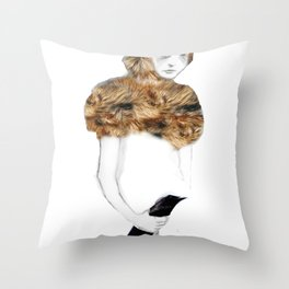 Bird in the Hand Throw Pillow