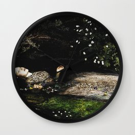 Ophelia - Shakespeare - Millais Wall Clock