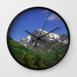 Scenic Seward Highway - Summer Wall Clock