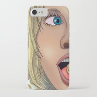 annie hall iPhone & iPod Cases featuring Annie by AdamSteve