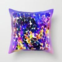 confetti Throw Pillows featuring Confetti by Art-Motiva