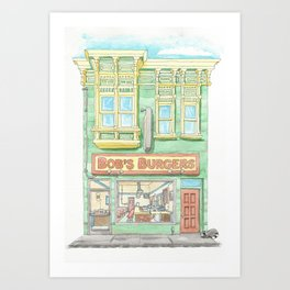 Lunch With the Belchers Art Print