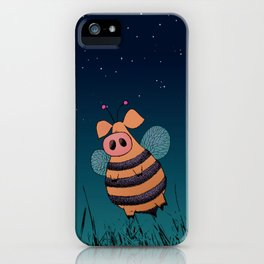 Bumblepig iPhone Case