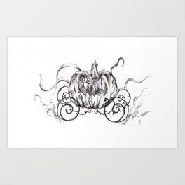 Bibbidi Bobbidi BOO! Inktober Drawing Art Print