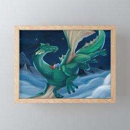 Boy and his Dragon Framed Mini Art Print