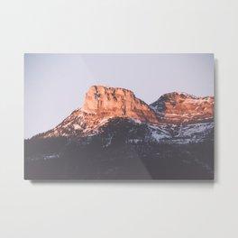 Snow Mountains Metal Print