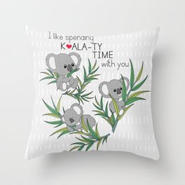 Koala Throw Pillow