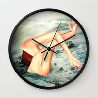 camp Wall Clocks featuring Camp by Erin Case