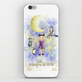 On the moon. iPhone Skin