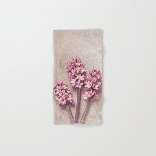 Lovely pink Hyacinths Hand & Bath Towel