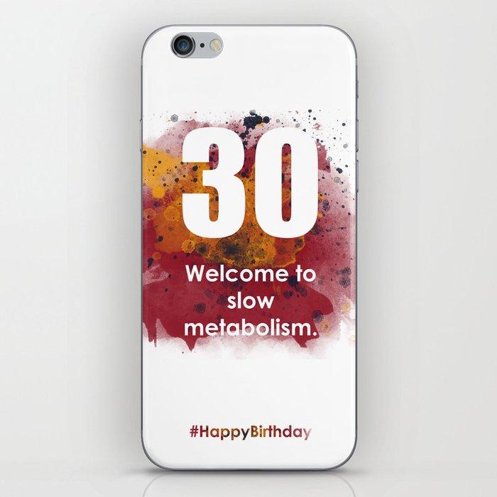 AgeIsJustANumber-30-SunriseSpotA iPhone Skin