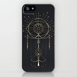 Geometrikal Gold Totem iPhone Case