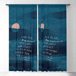 Cling To Joy, Bold, Audacious Joy That Looks For Light In Everything Even In The Waiting. Blackout Curtain