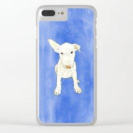 English bull terrier puppy pop art Clear iPhone Case