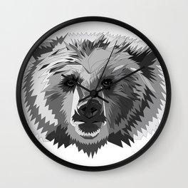 BEAR CUBISM Wall Clock